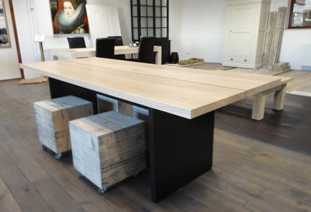 Eiken tafel 2 Plank Design