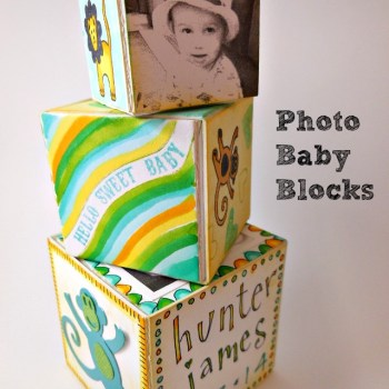 3D Birth Announcement Blocks