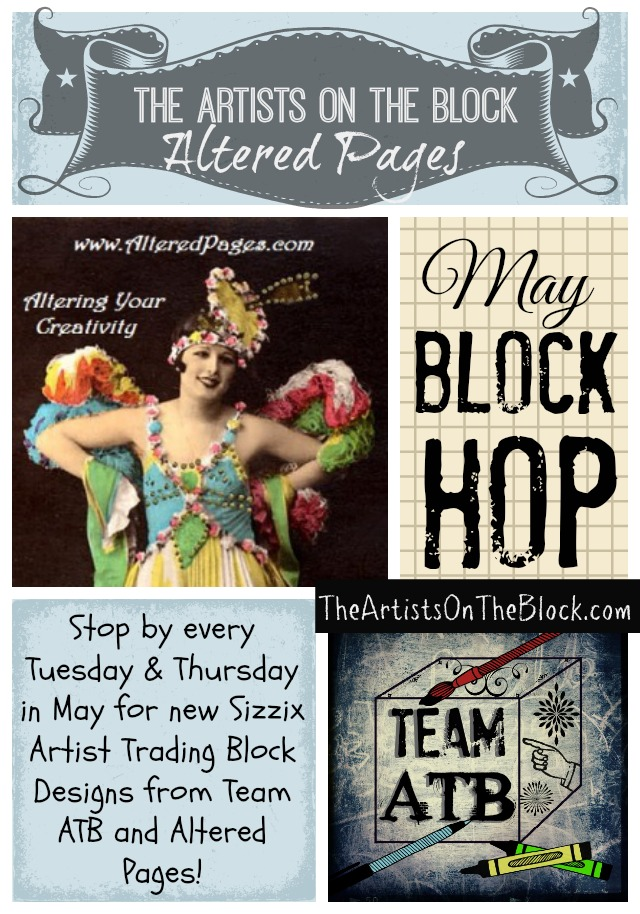 Team ATB and Altered Pages May Block Hop | @ArtTheBlock #TheATB #ArtistTradingBlocks
