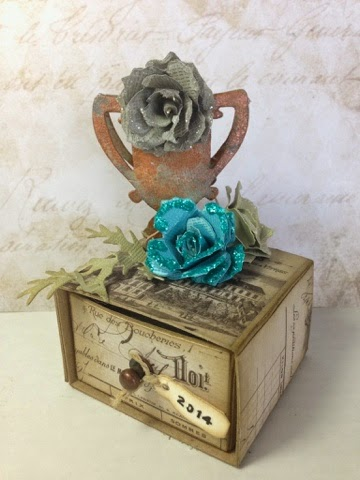 Candy Drawer Floral Box by Canadian Nickel Scrap'n | Eileenhull.com