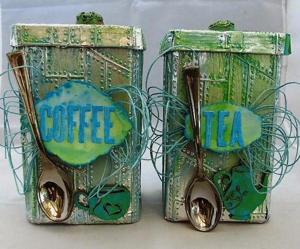Vintage Kitchen Sneak Peek : Coffee and Tea Canisters by Tracy Evans| Eileenhull.com