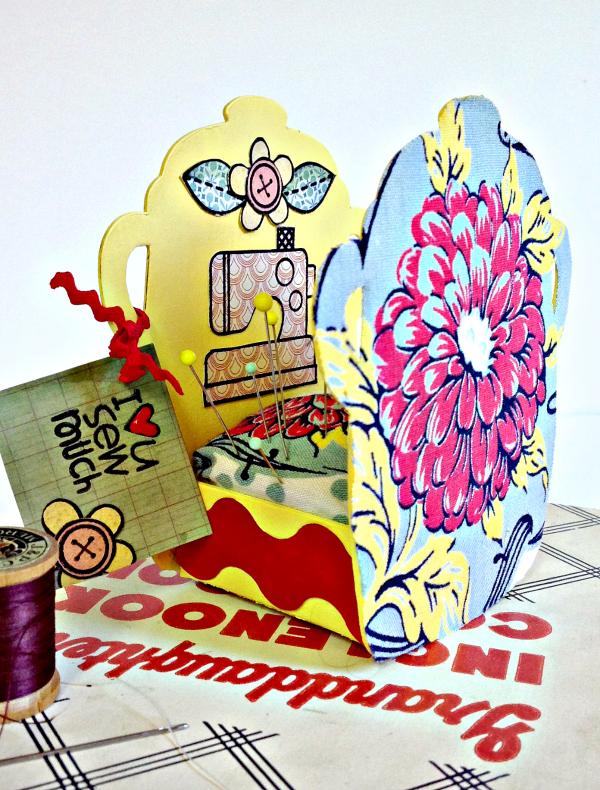 Vintage Kitchen Sneak Peek : Cookie Jar Pin Cushion by Michelle Zerull | Eileenhull.com