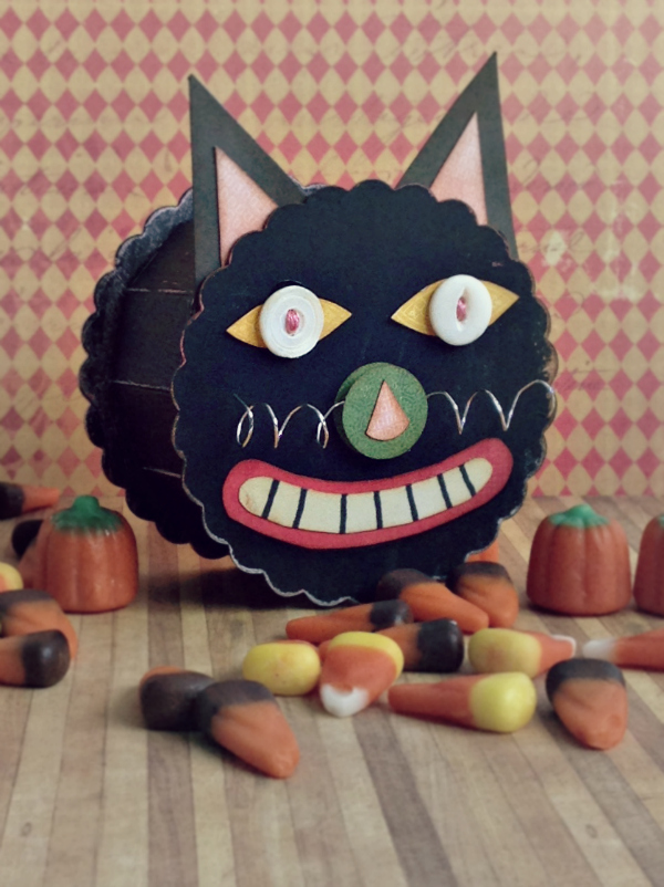 Vintage Kitchen Halloween Cat Candy Box by Michelle Zerull | Eileenhull.com