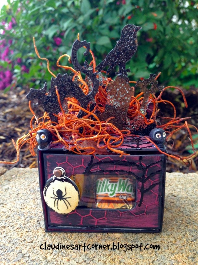 Spooky Treat Box by Claudine Criner | Eileenhull.com