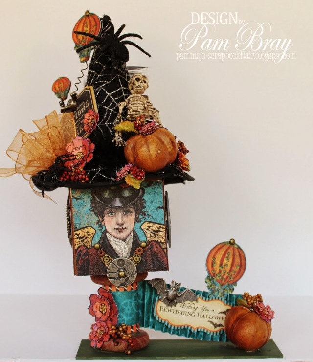 Halloween Candy Box Artist Trading Block by Pam Bray | Eileenhull.com