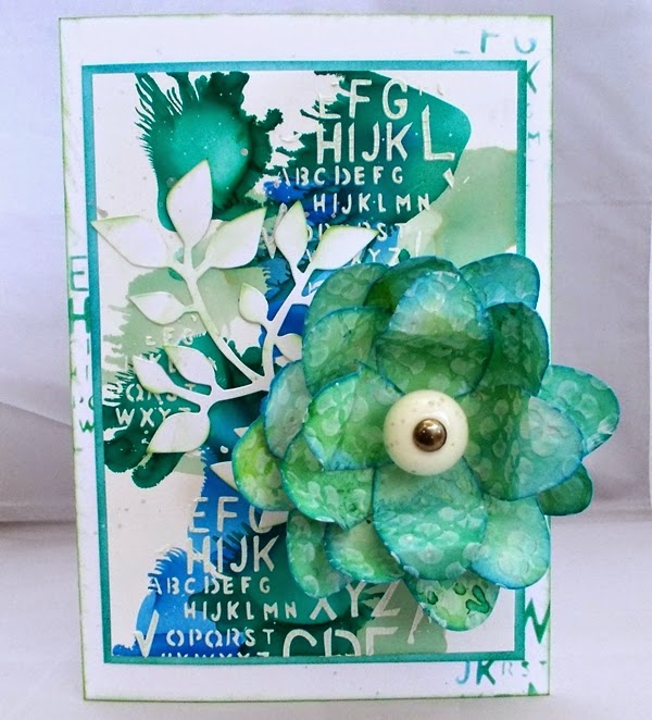 Petal Power Mixed-Media Card Tutorial by Tracy Evans | Eileenhull.com