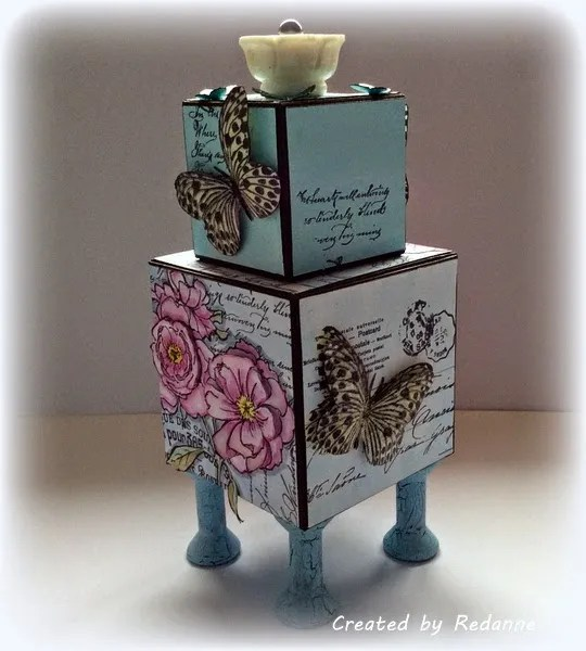 Stampendous Blossoming Butterfly ATB by Anne Redfern