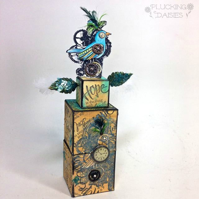 Stampendous Steampunk Bird ATB tower by Amy Bowerman