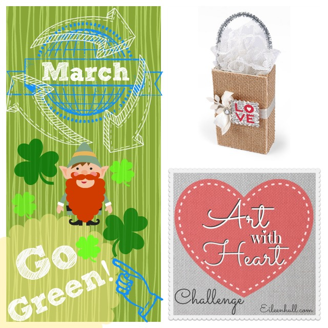 "Art with Heart Challenge March ""Go Green"" Sizzix Prize Pack 