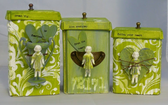 Altered Canisters with DecoArt Media by Tracy Evans