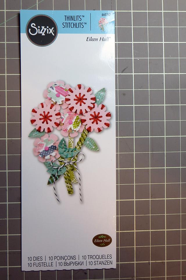 2 Eileen Hull Flower & Leaf Stitchlits Sizzix