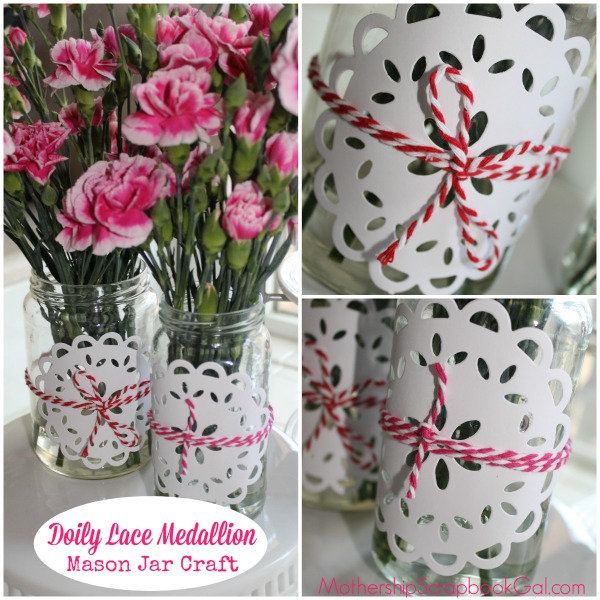 Easy Sizzix Doily Mason Jar Craft by Rina Gonzales