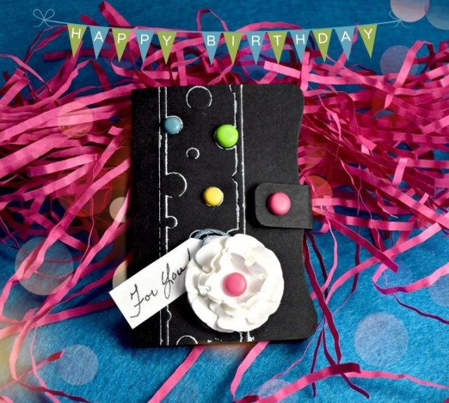 DIY Gift Card Holder with Sizzix Paper Leather and Ink Sheets by Donna Budzynski