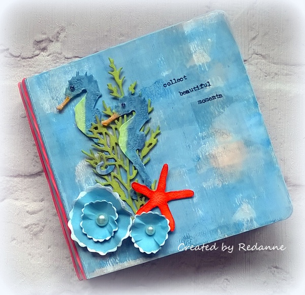 Crescent Project Ideas: Eileen Hull Sizzix Mini-Album Tutorial with RENDR paper by Anne Redfern