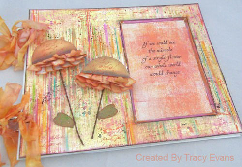Mixed-Media Photo Mat Art Board Tutorial with Eileen Hull Sizzix dies and Crescent Art Products by Tracy Evans