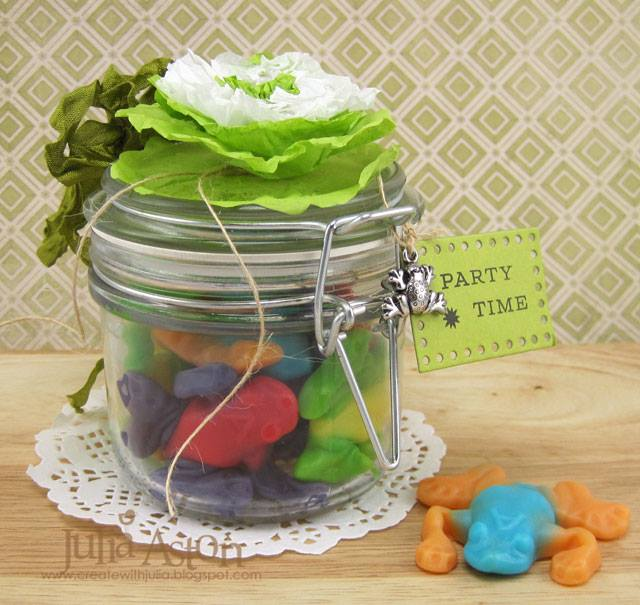 Sizzix Party Ideas: Lily Pad Treat Jar Tutorial with Eileen Hull Paper Flower Party by Julia Aston