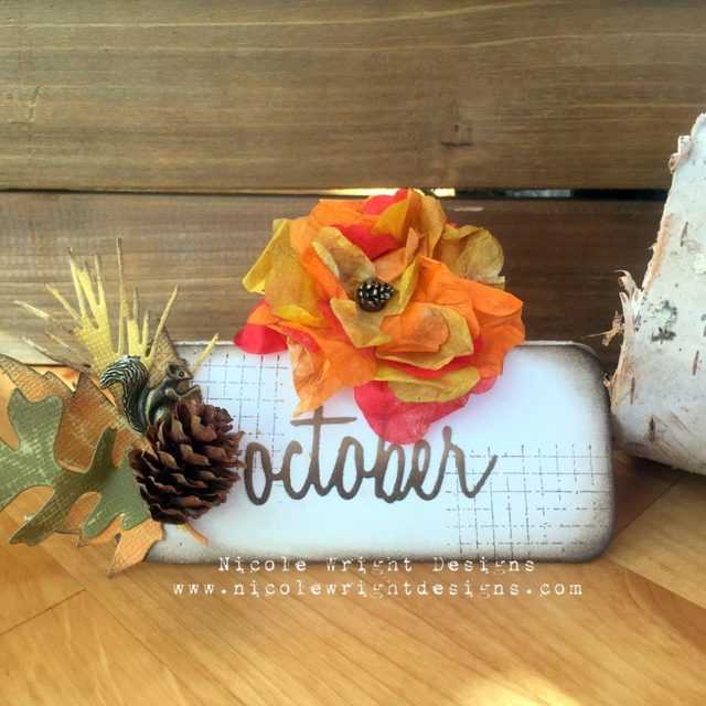 Sizzix Party Decor Tutorials: Fall Place Card Setting by Nicole Wright