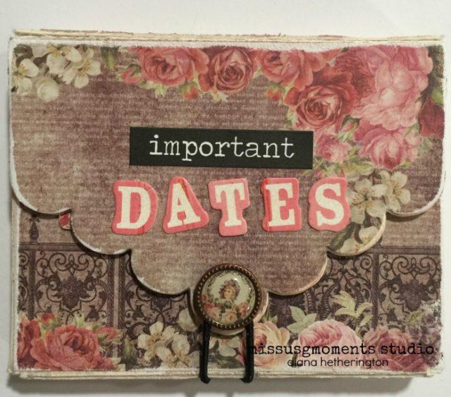 Sizzix Party Decor Tutorials: Important Dates Scalloped Box by Diana Hetherington