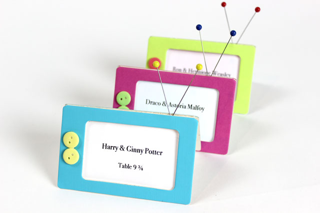 Sizzix Party Decor Tutorials: Retro TV Luggage Tag Place Cards by Jonathan Fong