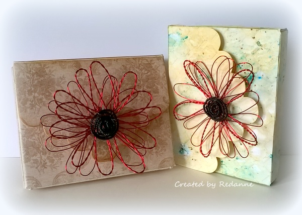 Eileen Hull Twist and Style Tool Project Ideas :  Wire Flower Gift Box Topper Tutorial by Anne Redfern