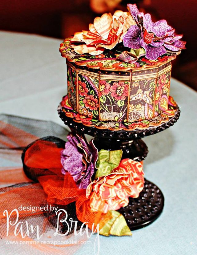 Halloween Sizzix Cookie Box Tutorials: Eileen Hull Paper Flowers and Graphic 45 Treat Box by Pam Bray