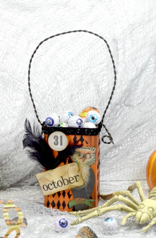 Halloween Sizzix Projects: Twisted Halloween Treat Canister by Donna Budzynski