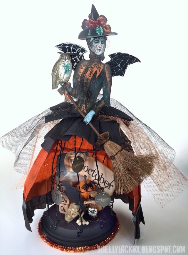 Fall Holiday Eileen Hull Sizzix Tutorials : Twist and Style Halloween Art Doll by Shelly Hickox