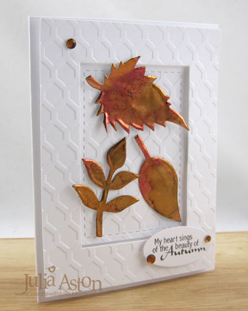 Create Cards with Sizzix: Clean and Simple Fall Leaves Card by Julia Aston