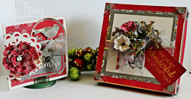 Winter Wonderland with Eileen Hull and DCWV: Christmas Card an Upcycled Candy Box Tutorials by Pam Bray