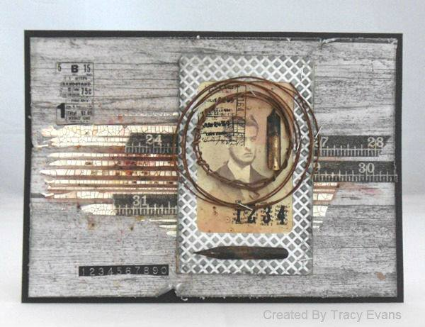 Winter Wonderland with Eileen Hull and DCWV: Wood Grain Mixed-Media Tutorial by Tracy Evans
