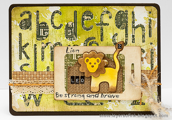 More Sizzix Card Making Ideas: Lion Birthday Card Tutorial by Anna-Karin Evaldsson