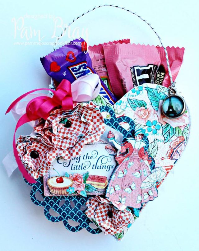 Last Minute Valentine's Day Sizzix Projects: Heart Candy Bag by Pam Bray