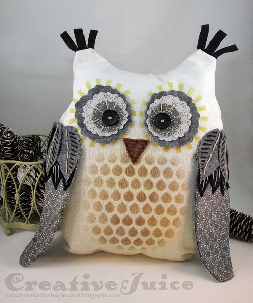 Clearsnap Blends Techniques: Owl Pillow Tutorial by Lisa Hoel