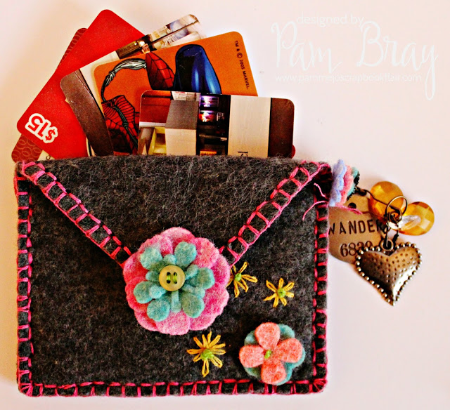 Eileen Hull's Heartfelt Sizzix Collection : House Pocket Wallet by Pam Bray