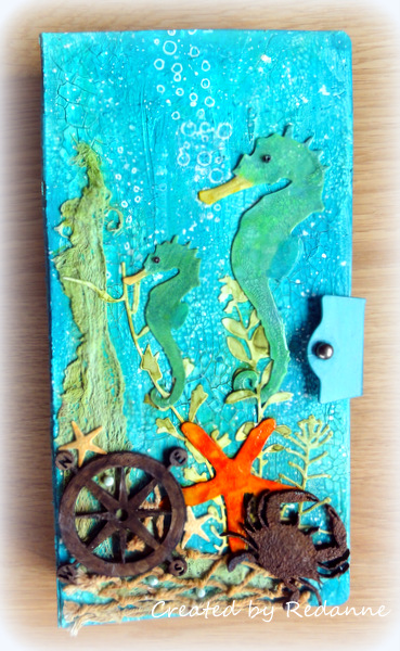 HeARTfelt Handmade Journal Ideas: Under the Sea Journal by Anne Redfern