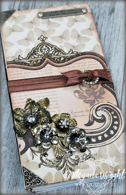 HeARTfelt Handmade Journal Ideas: Elegant Faux Dori Journal by Mitsyana Wright