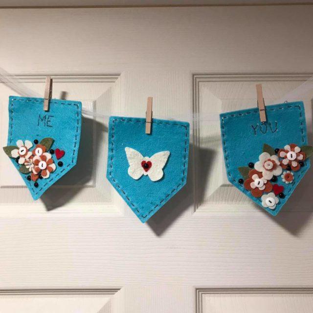 Kunin Felt with Eileen Hull's Heartfelt Sizzix Collection: House Pocket Banner by Diana Hetherington