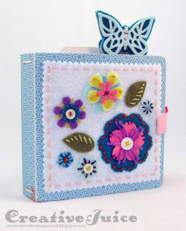 Kunin and Sizzix Heartfelt Project Tutorials: Felt Flower Journal by Lisa Hoel