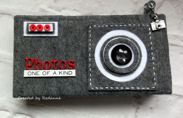 Ultimate List of Kunin Felt and Eileen Hull Sizzix Projects: Camera Photo Holder Tutorial by Anne Redfern
