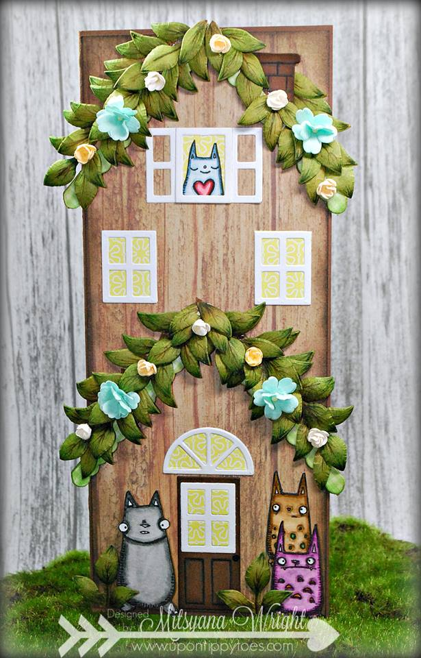 Ultimate List of Stampotique Sizzix Project Tutorials: Tree House Card by Mitsyana Wright
