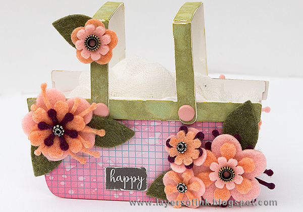 Ultimate List of Kunin Felt and Eileen Hull Sizzix Projects: Felt Flower Basket Tutorial by Anna-Karin Evaldsson