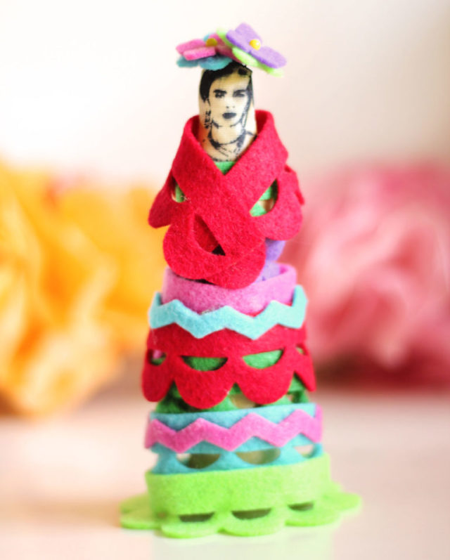 Heartfelt Sizzix Collection with Stampotique: Frida Kahlo Art Doll by Jonathan Fong