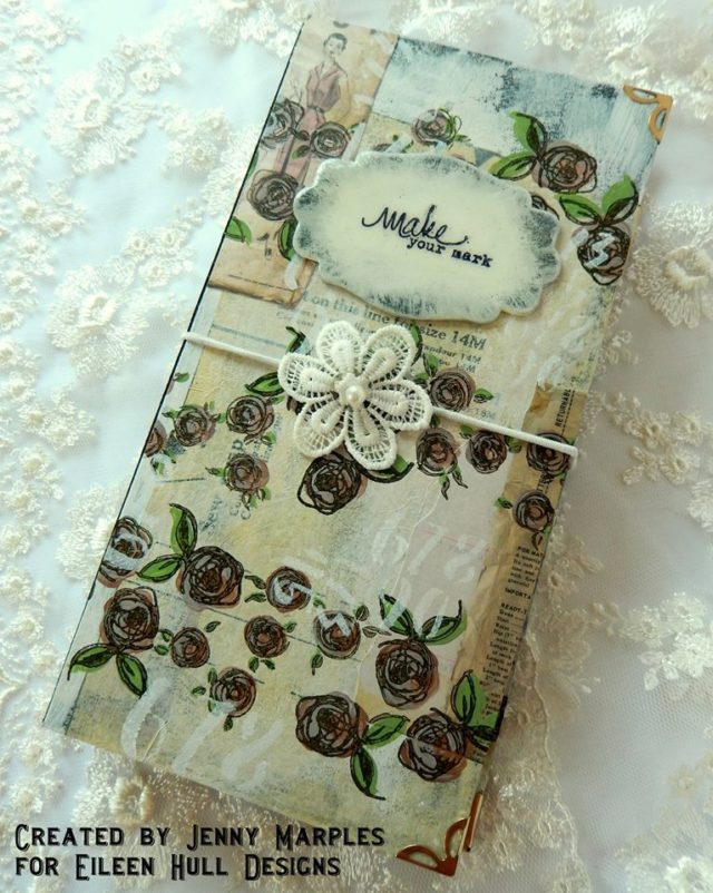 Heartfelt Sizzix Journal Ideas: Vintage Sewing Travelers Journal by Jenny Marples
