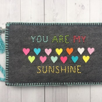 Sunshine Felt Wallet