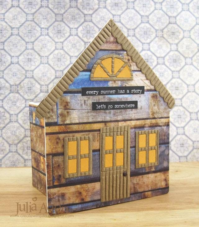Heartfelt Sizzix Collection Creations: House Pocket Vacation Fund Bank by Julia Aston