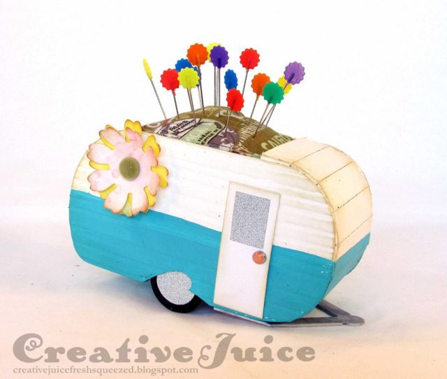 Heartfelt Sizzix Collection Creations: Travel Trailer Pin Cushion by Lisa Hoel