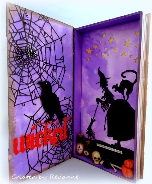 Unique Heartfelt Sizzix Tutorials: Halloween Shadowbox Journal by Anne Redfern