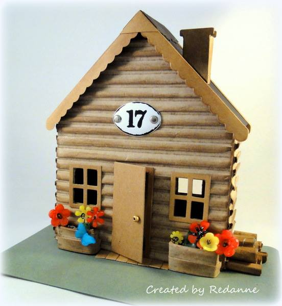 Unique Heartfelt Sizzix Tutorials: Make it 3D House Pocket Log Cabin by Anne Redfern