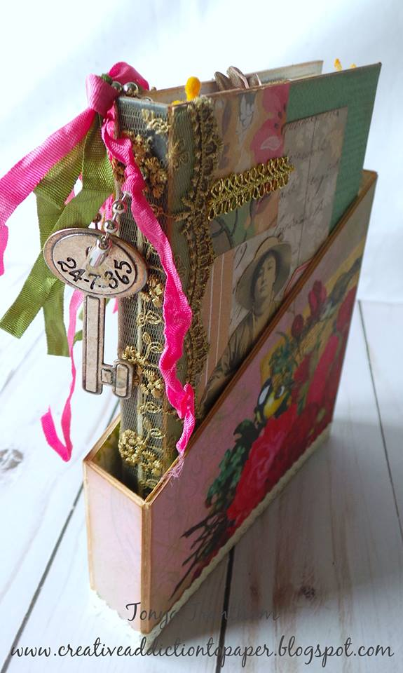Book Club Sizzix Collection Preview: Storage Box Mini Album Holder by Tonya Trantham