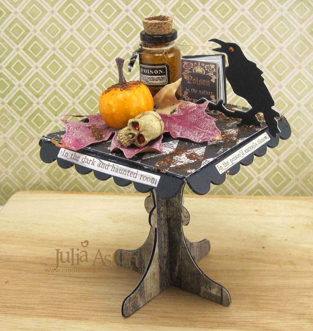 Fall Holiday Eileen Hull Sizzix Project Ideas: Apothecary Lab Table Tutorial by Julia Aston